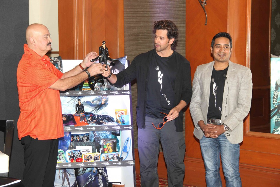 13oct Krrish3Merchandise04 Hrithik Roshan unveils Krrish 3 merchandize