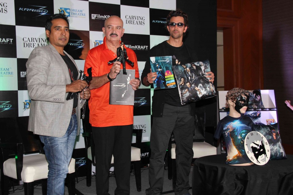 13oct Krrish3Merchandise09 Hrithik Roshan unveils Krrish 3 merchandize