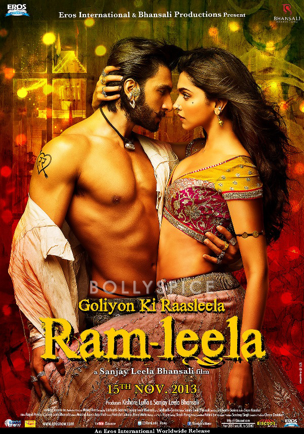 13oct Ramleela Poster4 English Making of Ishqyaun Dhishqyaun song in Ramleela and New Poster!