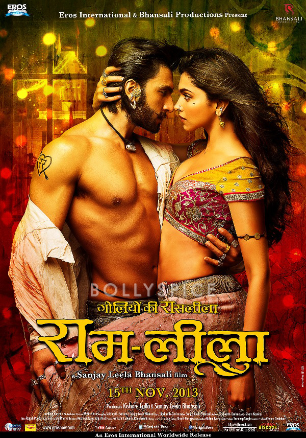 13oct Ramleela Poster4 Hindi Making of Ishqyaun Dhishqyaun song in Ramleela and New Poster!