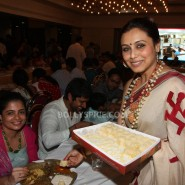 13oct Rani Bhog17 185x185 IN PICTURES: Rani Mukerji and Kajol serves bhog at North Bombay Sarbojanin Durga Puja