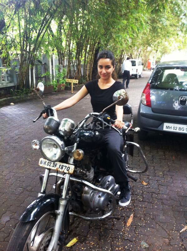 13oct Shraddha Biker Villian Shraddha Kapoor   The Biker Girl