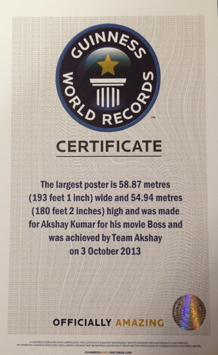 GuinessWorldRecordBossAksha Boss Akshay Kumars World Record
