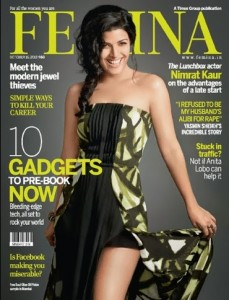 Nimrat Kaur on The Cover of Femina Magazine - October 2013