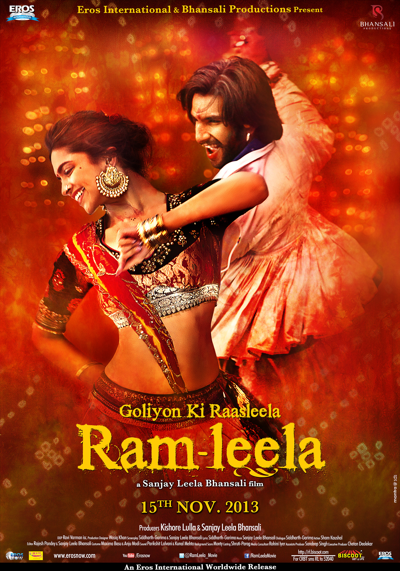 Poster 03 English The romantic Lahu Munh Lag Gaya   Ram leela!