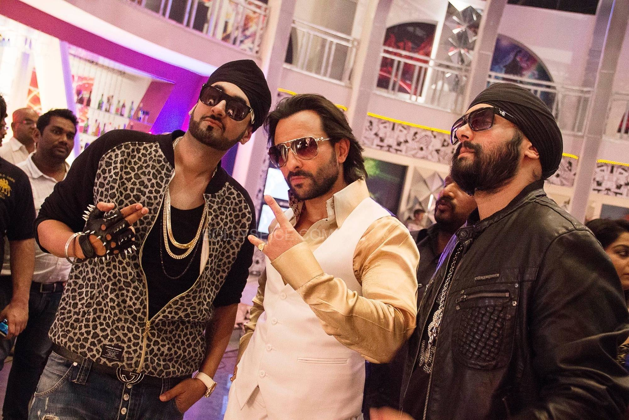 Saif Ali Khan with RDB in Tamanche Pe Disco Song from Bullett Raja Surj from RDB Talks Tamanche Pe Disco from Bullett Raja