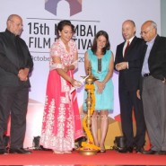 Sonakshi Sinha Lighting the diya_at the Opening Ceremony_15th Mumbai Film Festival(MAMI)