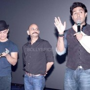 dhoom3trailerlaunch12 185x185 Aamir Khan and Abhishek Bachchan at Dhoom:3 Trailer release at IMax