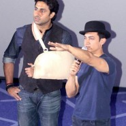 dhoom3trailerlaunch13 185x185 Aamir Khan and Abhishek Bachchan at Dhoom:3 Trailer release at IMax
