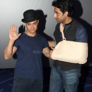 dhoom3trailerlaunch2 185x185 Aamir Khan and Abhishek Bachchan at Dhoom:3 Trailer release at IMax