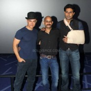 dhoom3trailerlaunch4 185x185 Aamir Khan and Abhishek Bachchan at Dhoom:3 Trailer release at IMax