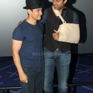 dhoom3trailerlaunch5 185x185 Aamir Khan and Abhishek Bachchan at Dhoom:3 Trailer release at IMax