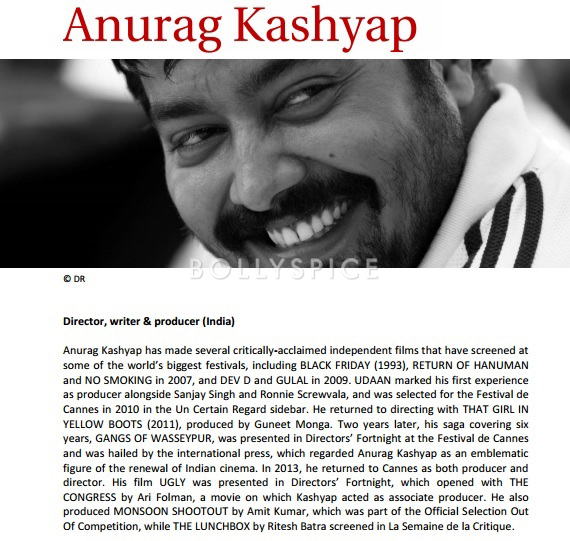 13nov Anurag in Marrakech jury Anurag Kashyap to be a part of the jury at Marrakech International Film Festival