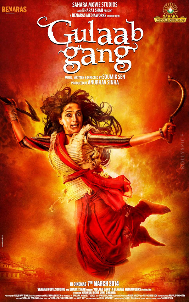13nov GulaabGang Poster Beware, Madhuri is here: Gulaab Gang First Look Poster