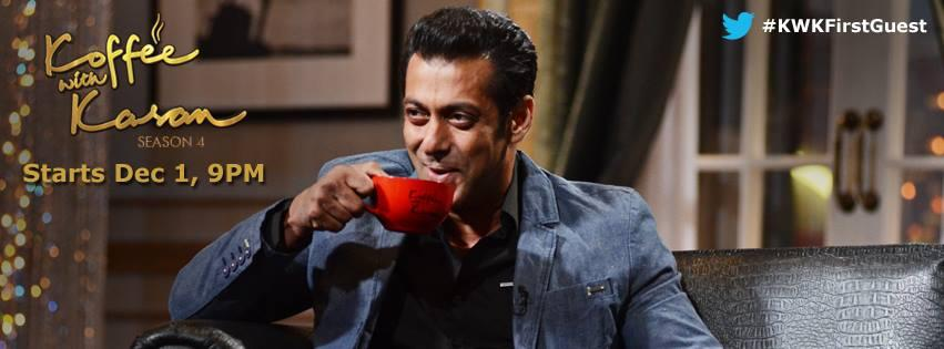 13nov Salman KoffeeWithKaran Salman to open the 4th Season of Koffee with Karan