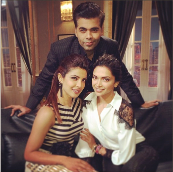 kwkdeepikapc Deepika Padukone and Priyanka Chopra Together on Koffee with Karan 4!