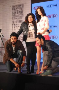 13dec MetroShoes 199x300 Metro Shoes Shoes for a new race with Kalki Koelchin, Rannvijay & Varun Dhawan