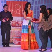 13dec MonaVanyaTangerine01 185x185 Mona Singh and Vanya Mishra walk the ramp at the launch of Tangerine Home Couture
