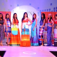 13dec MonaVanyaTangerine07 185x185 Mona Singh and Vanya Mishra walk the ramp at the launch of Tangerine Home Couture