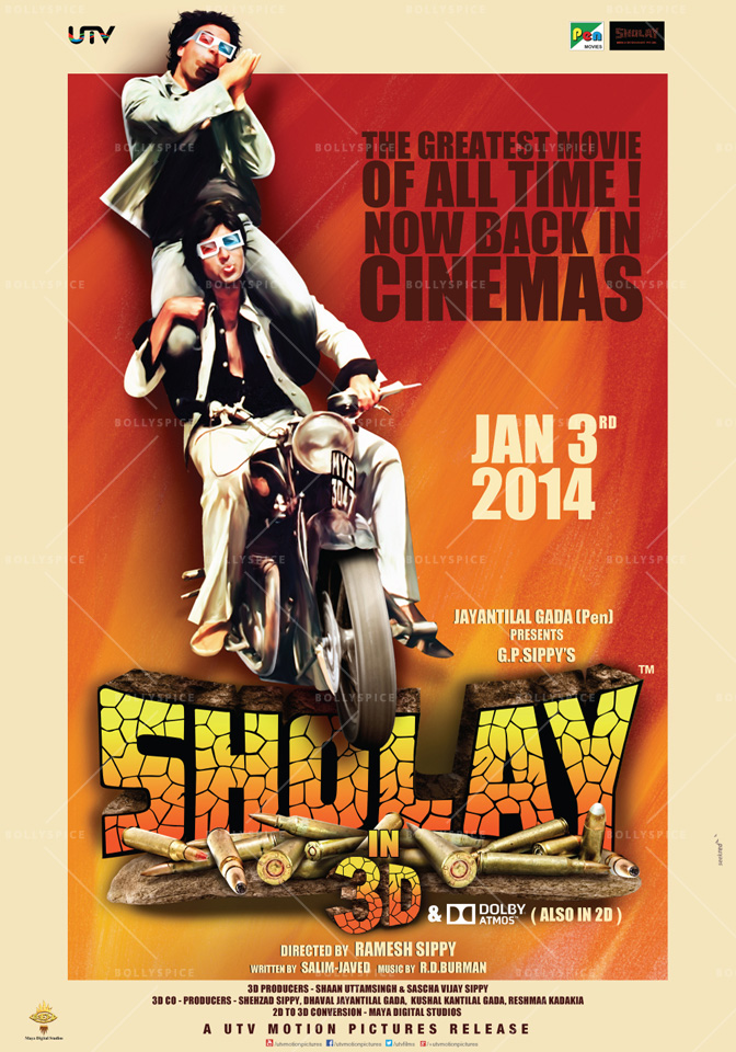 13dec Sholay3Dposter01 Cult classic 'Sholay' returns, now in 3D