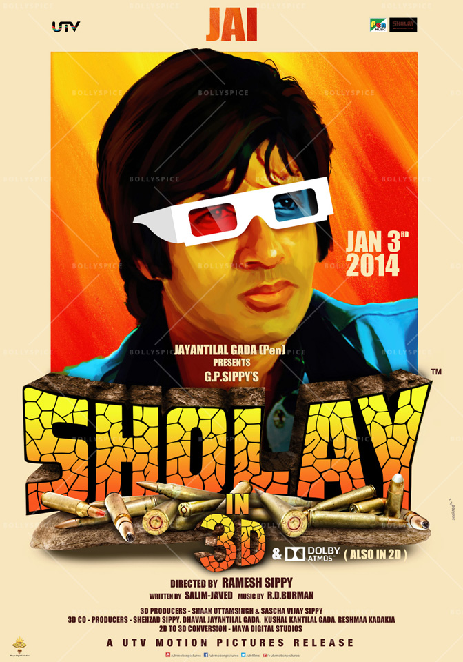 13dec Sholay3Dposter02 Cult classic 'Sholay' returns, now in 3D