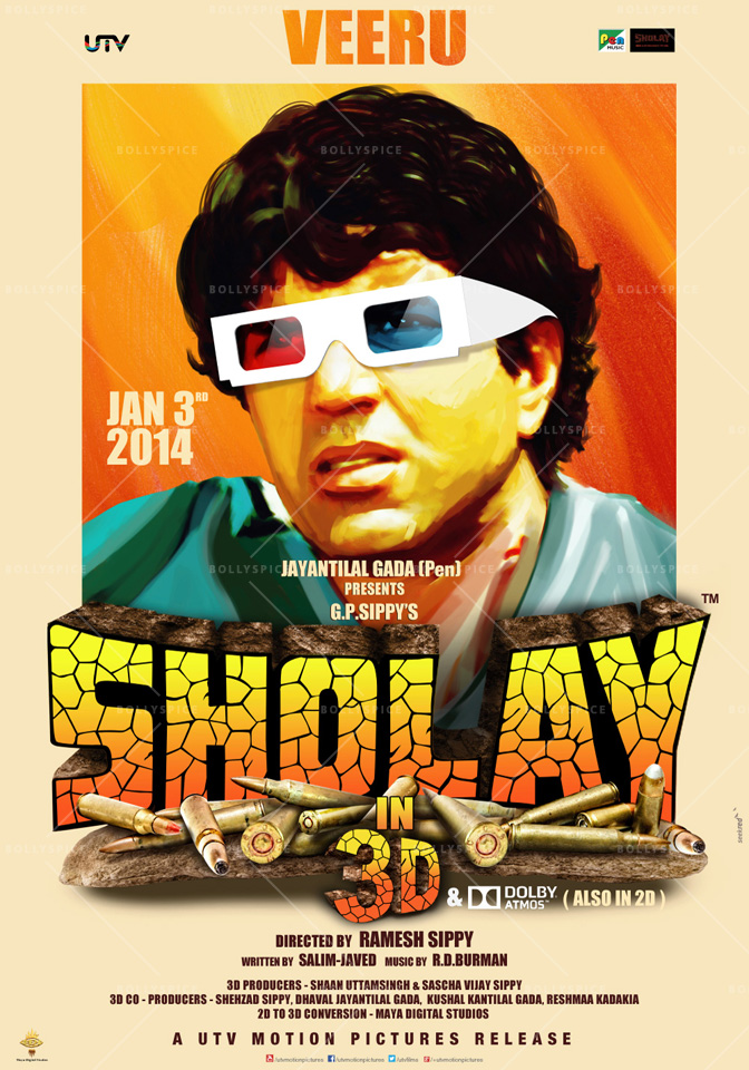 13dec Sholay3Dposter04 Cult classic 'Sholay' returns, now in 3D