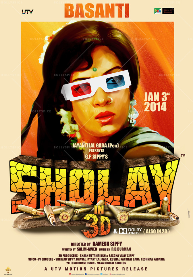 13dec Sholay3Dposter05 Cult classic 'Sholay' returns, now in 3D