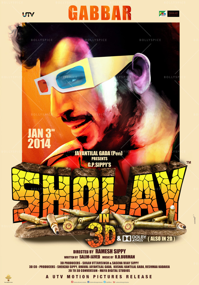 13dec Sholay3Dposter06 Cult classic 'Sholay' returns, now in 3D