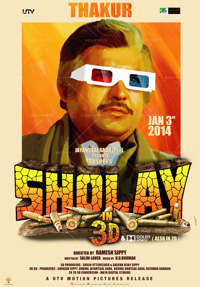 13dec Sholay3Dposter07 Cult classic 'Sholay' returns, now in 3D