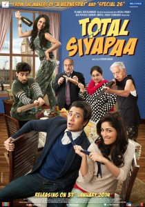 13dec TotalSiyapaa poster 210x300 Reliance Entertainment brings 2014 in with a twist with the urbanist rom com Total Siyapaa