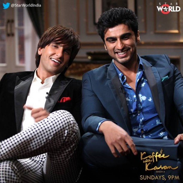 image4 612x612 Koffee with Karan Preview: Ranveer and Arjun