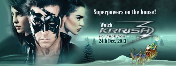krrish3 612x229 Watch Krrish 3 Free on Eros Now Starting Today