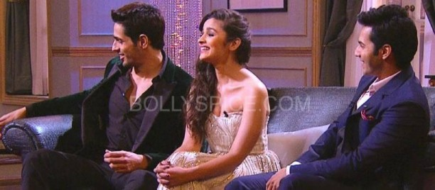 kwksoty011 612x268 KWK Preview with Student of the Year Cast Alia, Varun, and  Sidharth