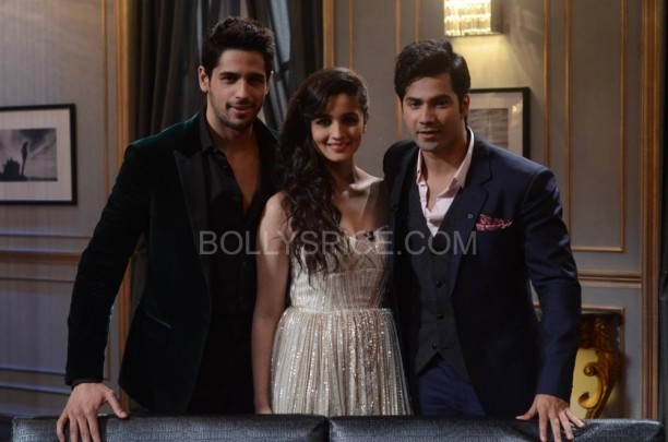kwksoty02 612x405 KWK Preview with Student of the Year Cast Alia, Varun, and  Sidharth