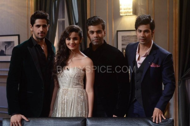 kwksoty3 612x405 KWK Preview with Student of the Year Cast Alia, Varun, and  Sidharth