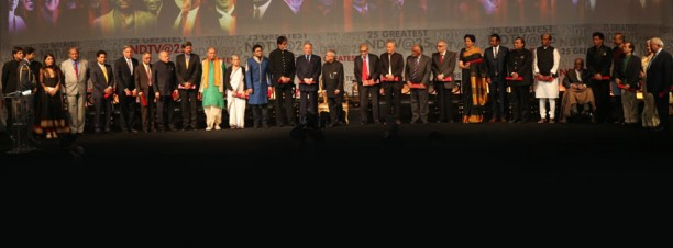"ndtv25greatestgloballivingindians 612x226 Big B, SRK and Waheeda Rehman honoured by NDTV amongst the ""25 Greatest Global Living Indians"""