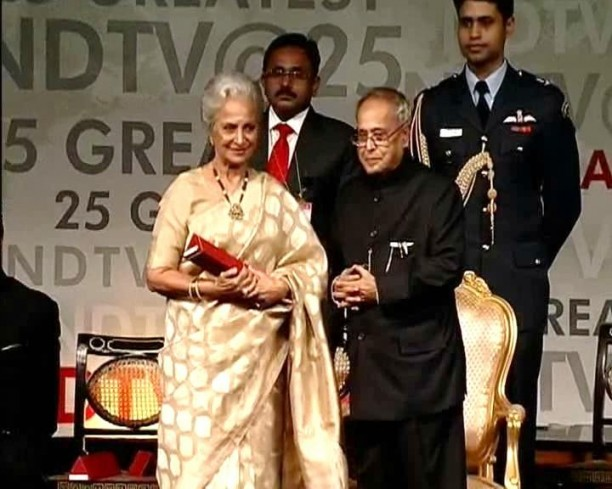 "ndtv25greatestgloballivingindians4 612x489 Big B, SRK and Waheeda Rehman honoured by NDTV amongst the ""25 Greatest Global Living Indians"""