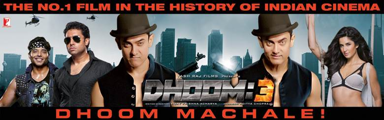 14jan Dhoom3 500crWorldwide Dhoom:3   The first Indian film to gross ₹500 crores worldwide