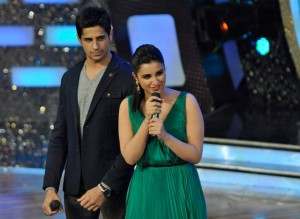 14jan HTP SidharthParineeti 300x219 Hasee Toh Phasee: Sidharth and Parineeti on the sets of Dance India Dance