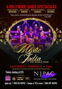 14jan NJPAC MysticIndiaPoster 208x300 New Jersey Performing Arts Center brings Mystic India: The World Tour