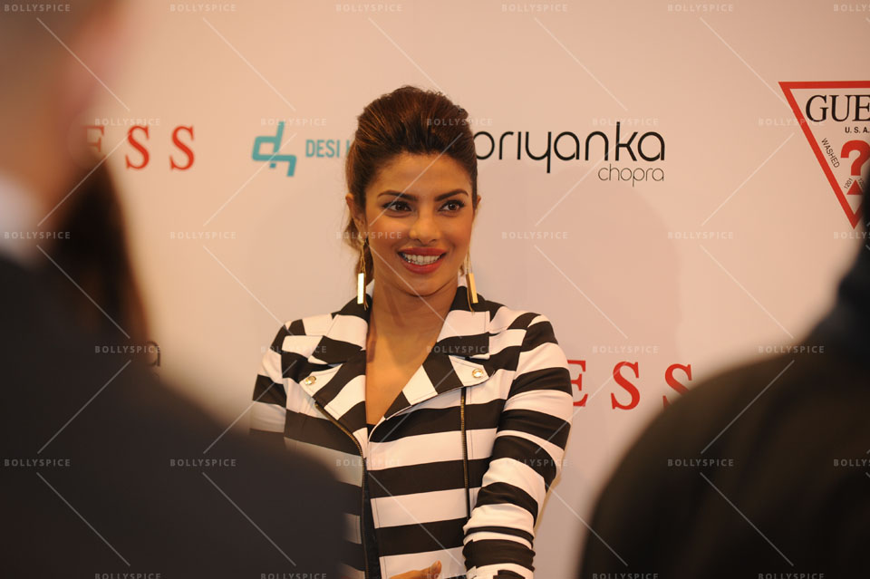 14jan Preview PriyankaGUESS01 Sneak Peek: Priyanka Chopra at GUESS store in London