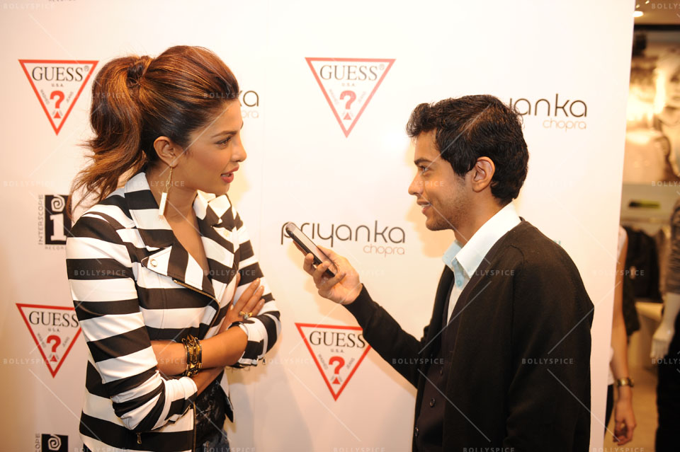 14jan Preview PriyankaGUESS03 Sneak Peek: Priyanka Chopra at GUESS store in London