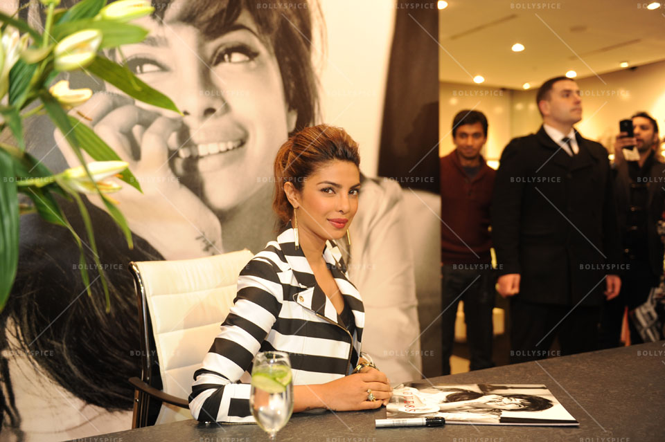 14jan Preview PriyankaGUESS04 Sneak Peek: Priyanka Chopra at GUESS store in London