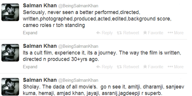 14jan Salman Sholay3Dtweets Salman Khan relives the magic of Sholay in 3D
