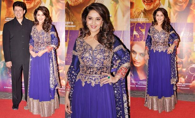 14jan whwn DedhIshqiya01 Whos Hot Whos Not: Dabboo Ratnanis calender launch and Dedh Ishqiya premier
