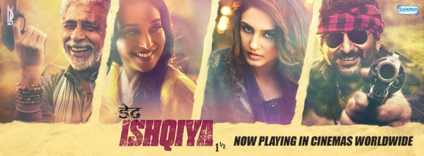 dedhishqiyabo 612x226 Dedh Ishqiya holds well during the week at the Box Office