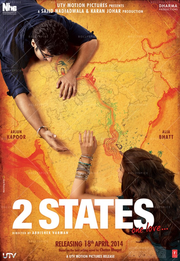 14feb 2States Poster01 612x887 Dharma Productions release poster for 2 States
