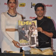 14feb FilmfareCoverDeepikaFarhan08 185x185 Special Report: Farhan Akhtar and Deepika Padukone unveil the special Filmfare issue