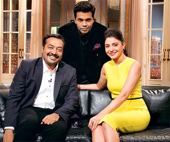 14feb kwkanushka Koffee With Karan Season 4: Anushka Sharma & Anurag Kashyap