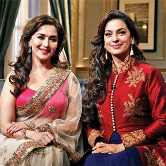 14feb kwkmadhurijuhi Koffee with Karan Season 4: Madhuri Dixit & Juhi Chawla
